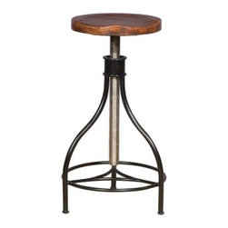 Vanguard Vintage Style Stool P456BS-SN - These beautiful stool have vintage modern style and add texture and industrial elements into any room.