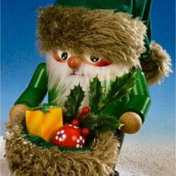 Steinbach - Steinbach Troll Irish Santa Nutcracker 2008 Edition-Signed Multicolor - NWG5-152 - Shop for Holiday Ornaments and Decor from Hayneedle.com! Add a little roguish Irish spirit to your holiday decor this season with this quaint 2008 Signed Steinbach Troll Irish Santa. With his green sack filled with holly and colorful gifts his bright red cheeks and his green hat trimmed with gold this charming Santa will be the center of conversation at the Christmas dinner table. Meticulously hand-carved in the renowned Steinbach factory in Germany this decorative nutcracker is crafted from genuine wood and painted freehand. It is also a limited edition item from the 2008 Steinbach Troll collection that is signed by Karla Steinbach. Keep it as a collectable or to pass down through generations in your own special tradition.About SteinbachSteinbach is recognized for the unique design of its wood-carved creations developed many years ago by Herr Christian Steinbach. The Steinbach family started making nutcrackers and other items in the 1800s in the Alpine regions of Germany. The tradition of creating hand-carved Steinbach German Nutcrackers is carried on by the Steinbach family which remains responsible for the product concept development design manufacture and quality control at the Hohenhameln factory in the northern region of Germany.Steinbach items are highly collectible. If you are starting a new collection or adding to your existing collection you will love these unique masterpieces. These treasured collectibles are handed down from generation to generation.The Making of Steinbach NutcrackersEach Steinbach nutcracker is produced using up to 130 separate procedures. Genuine hardwood is cut and shaped into specific sizes and parts. The wood is then turned by hand using an ancient process that creates smooth clean surfaces. The pieces are lathed polished and drilled before they are turned over to experienced craftsmen who prime and spray them repeatedly alternating the process with drying to produce an even tone. Carving comes next; wood-carving artisans use knives and finely honed skill to add personality and detail to the pieces. Finally the painters take over; trained German artists paint these nutcrackers freehand. The result is a truly unique one-of-a-kind product that is a must-have for collectors and art lovers alike.