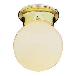 Trans Globe - Trans Globe 3606 WH 1-Light Flush Mount - Trans Globe 3606 WH 1-Light Flush Mount