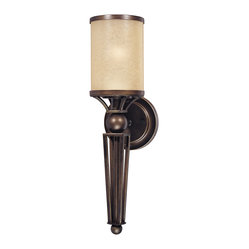 Longitude Painted Bronze Wall Sconce