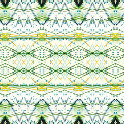 Festival Feast Green Wallpaper - Emerald green and yellow come together to create this beautiful design.