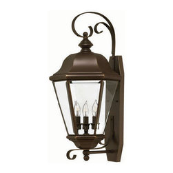 Hinkley Lighting - Hinkley Lighting 2428CB Clifton Park Large Outdoor Wall Sconce in Copper Bronze - Hinkley Lighting 2428CB Clifton Park Large Outdoor Wall Sconce in Copper Bronze