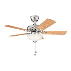 "Kichler - Kichler 337014BSS Sutter Place 42"" Indoor Ceiling Fan 5 Blades - Light Kit an - Included Components:"