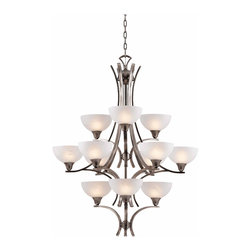 Triarch International - Triarch 29771-BS Luxor Antique Brushed Steel 12 Light Chandelier - Triarch 29771-BS Luxor Antique Brushed Steel 12 Light Chandelier