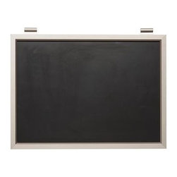 """Daily System Chalkboard, Stainless Steel finish - Clever and versatile, our modular Daily System is the ultimate home-office assistant. Short Display Rod: 12"""" long Long Display Rod: 24"""" long Letter Bin: 12"""" wide x 19"""" high Office Organizer: 12"""" wide x 19"""" high Corkboard: 12"""" wide x 19"""" high Chalkboard: 24"""" wide x 19"""" high Magnetic Whiteboard Calendar: 24"""" wide x 19"""" high Linen Pinboard: 24"""" wide x 19"""" high Whiteboard: 24"""" wide x 19"""" high Made of MDF with an aluminum finish. Catalog / Internet only."""