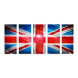 Matthew's Art Gallery - Metal Wall Art Modern Contemporary Handmade UK Flag - Name: UK Flag