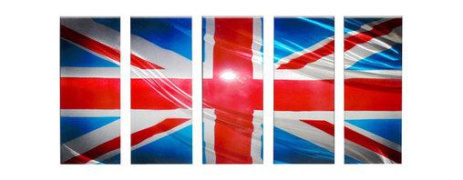 Matthew's Art Gallery - Metal Wall Art Modern Contemporary Handmade UK Flag - Name: UK Flag