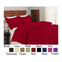 None - Microfiber Down Alternative 3-piece Comforter Set - Perfect for year-round use,this microfiber comforter provides the ultimate in comfort. Also ideal for allergy sufferers,the hypoallergenic comforter is finished with durable self-piped edges and double stitching.