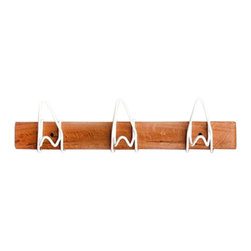 Strand Design - White Hanging Coat Rack - The 3 Hook Knot Rack is a great addition to any room! This versatile piece will add beauty to your modern home.