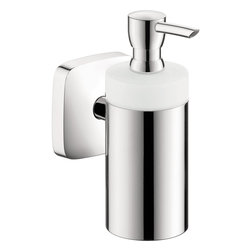Hansgrohe - Hansgrohe 41503000 Puravida Lotion Dispenser  in Chrome - Puravida Lotion Dispenser  in Chrome belongs to Puravida Collection by Hansgrohe The Hansgrohe PuraVida Wall-Mount Brass and Ceramic Soap Dispenser in Chrome offers a simple design in brass and ceramic for lasting durability. The convenient wall-mount design can help save space in your bathroom.  Lotion Dispenser (1)