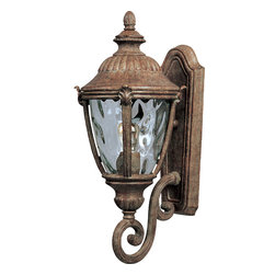 Morrow Bay VX-Outdoor Wall Mount - Maxim Lighting's Morrow Bay VX Collection is made with Vivex, a material twice the strength of resin, is non-corrosive, UV resistant and backed with a 3-Year Limited Warranty. Morrow Bay VX features our Earth Tone finish and Water Glass.