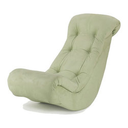 Hannah Baby - Hannah Baby Lime Micro Fiber Banana Rocker - This comfy banana rocker offers a place to sit and relax while watching movies, playing video games, or socializing with friends. The foam filling provides plushy comfort, while the lime green upholstery adds a spirit of trendy fun.