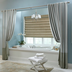 Boutique Grommet Drapery - Our Grommet Drapery can elevate and bring life to your surroundings. A perfect way to accentuate your existing window treatments, this drapery comes in a variety of colors and patterns that lends itself to both casual and formal environments. Our exquisite Grommet Drapery also includes a premium liner to protect your drapes from direct sunlight and provide minor insulation. Customize your drapery further by selecting your grommet color to accentuate your existing decor and create your perfect window.