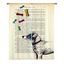 "DiaNoche Designs - Window Curtains Unlined from DiaNoche Designs by Madame Memento - Jack Russell - DiaNoche Designs works with artists from around the world to print their stunning works to many unique home decor items.  Purchasing window curtains just got easier and better! Create a designer look to any of your living spaces with our decorative and unique ""Unlined Window Curtains."" Perfect for the living room, dining room or bedroom, these artistic curtains are an easy and inexpensive way to add color and style when decorating your home.  The art is printed to a polyester fabric that softly filters outside light and creates a privacy barrier.  Watch the art brighten in the sunlight!  Each package includes two easy-to-hang, 3 inch diameter pole-pocket curtain panels.  The width listed is the total measurement of the two panels.  Curtain rod sold separately. Easy care, machine wash cold, tumble dry low, iron low if needed.  Printed in the USA."