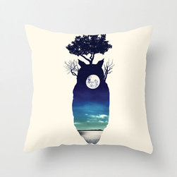 Forest Spirit Pillow Cover - The films of Studio Ghibli have a way of filling us with childlike wonder at any age. Celebrate your love for My Neighbor Totoro in your home with this exclusively designed poplin pillow cover featuring a silhouette of the forest spirit filled by the full moon. Whether it's for the kids or especially for you, we know it will bring a smile to your face.