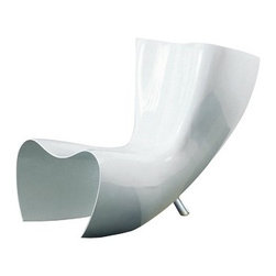 Cappellini - Felt Side Chair - Features: -With reinforced fiberglass body.-Back leg in polished natural aluminium.-Collection: Collezione.-Upholstered: Yes .-Distressed: No.-Country of Manufacture: Italy.Dimensions: -Overall dimensions: 32.25'' H x 26.2.5'' W x 41.75'' D.-Overall Product Weight: 60 lbs.Warranty: -Warranty length: 2 Years.