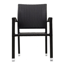 Modway Furniture - Modway Bella Dining Armchair in Espresso - Dining Armchair in Espresso belongs to Bella Collection by Modway Relax in confidence, as you effortlessly unite diverse forces to take center stage. Wealth and success surround you and draw attention to greater heights. This outdoor wicker dining chair has a sturdy aluminum frame covered with an espresso rattan weave. Set Includes: One - Bella Outdoor Wicker Patio Dining Chair Patio Armchair (1)