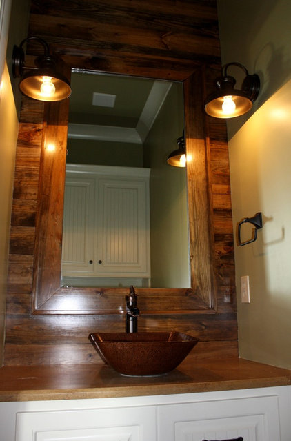 Traditional Powder Room by Mandy Lawrence Interior Design