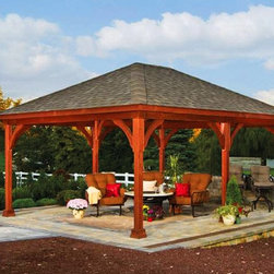 Pavilions - 16'x20' pavilion from Amish Country Gazebos. Visit our website at amishgazebos.com to learn more.