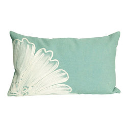 "Trans-Ocean - Antique Medallion Aqua Pillow - 12""X20"" - The highly detailed painterly effect is achieved by Liora Mannes patented Lamontage process which combines hand crafted art with cutting edge technology.These pillows are made with 100% polyester microfiber for an extra soft hand, and a 100% Polyester Insert.Liora Manne's pillows are suitable for Indoors or Outdoors, are antimicrobial, have a removable cover with a zipper closure for easy-care, and are handwashable."
