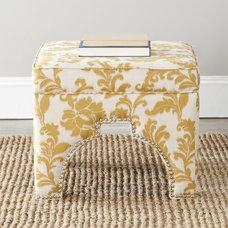 Safavieh Sahara Floral Beige Nailhead Ottoman | Overstock.com Shopping - The Bes