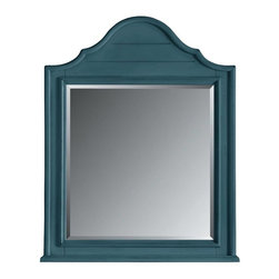 Stanley Furniture - Coastal Living Retreat-Arch Top Mirror - Wood slats, curved moldings and inset beveled glass. Hard to believe its brand new.
