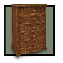 Roma 5-Drawer Wicker Chest