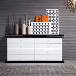 SV02D Modern Eight Drawer Bedroom Dresser - Modern bedroom dresser