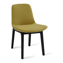 Bryght - Aurora Pistachio Dining Chair - It's all in the details. The Aurora dining chair is a delectable piece with beautiful double stitched seams and an encapsulating leg design. Injection molded foam seat and back ensures long term durability. Available in a wide array of colors.