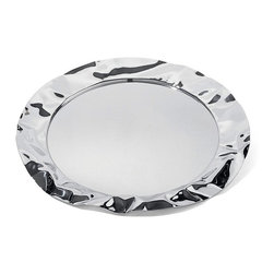 "Alessi - Alessi ""Foix"" Tray, Stainless Steel - Foix is a round tray in stainless steel or steel colored with epoxy resin."