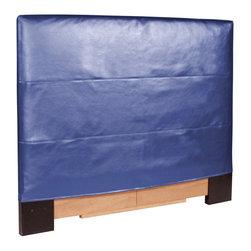 Howard Elliott - Shimmer Sapphire Slipcovered Headboard (King) - Choose Size: King