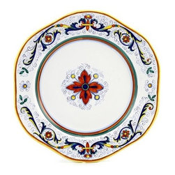 Artistica - Hand Made in Italy - Ricco Deruta: Hexagonal Charger Plate - Ricco Deruta: This product is part of the renown Ricco Deruta Collection.