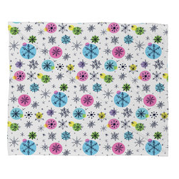 DENY Designs - DENY Designs Sam Osborne Snowflake Doodles Fleece Throw Blanket - This DENY fleece throw blanket may be the softest blanket ever! And we're not being overly dramatic here. In addition to being incredibly snuggly with it's plush fleece material, you can also add a photo or select a piece of artwork from the DENY Art Gallery, making it completely custom and one-of-a-kind! And when you've used it so much that it's time for a wash, no big deal, as it's machine washable with no image fading. Plus, it comes in three different sizes: 80x60 (big enough for two), 60x50 (the fan favorite) and the 40x30. With all of these great features, we've found the perfect fleece blanket and an original gift!