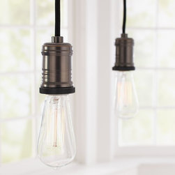 Exposed Bulb Pendant Track Lighting - If you're keen to work the exposed bulb trend into track lighting, then these industrial-style bulbs are the perfect fit. I'd like to hang a line of these over a kitchen island.