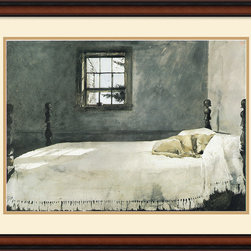 Amanti Art - Master Bedroom Framed Print by Andrew Wyeth - Wyeth's undisputed best seller is the perfect decorator piece for your home as it blends a soft rustic style with contemporary simplicity.