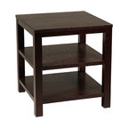 "Office Star - Office Star Avenue Six Merge 20"" Square End Table in Espresso Finish - Merge 20"" Square end table in espresso finish"