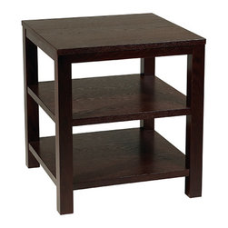 """Office Star - Office Star Avenue Six Merge 20"""" Square End Table in Espresso Finish - Merge 20"""" Square end table in espresso finish"""