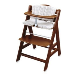 Hauck - Hauck Alpha Chair in Walnut - The Alpha chair has an appealing style that complements any home decor while giving your child a very comfortable place to sit at any table.