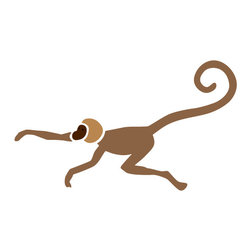 My Wonderful Walls - Monkey Stencil 2 for Painting - - Monkey wall stencil for jungle theme wall mural