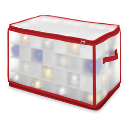 Whitmor - Whitmor Large Christmas Zippered Ornament Organizer - Keep your special ornaments in perfect condition year after year in this holiday Ornament Storage Chest.  These boxes will soon be as much a part of your holiday tradition as the special collectibles they contain.