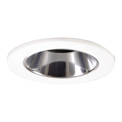 """Halo - Halo 3"""" White and Clear Lensed Shower Recessed Light - A white trim with clear reflector recessed shower light by Halo. This recessed shower light is perfect for the stylish bathroom. Features a white finish with a clear reflector in low voltage. Has a regressed lens, a noncorrosive polymer trim ring, and a 15 degree tilt with a 360 degree rotation. From Halo lighting."""