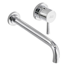 American Standard - American Standard 2064.461.002 Serin 1 Handle Lavatory Faucet, Polished Chrome - American Standard 2064.461.002 Serin 1 Handle Wall Mount Lavatory Faucet, Polished Chrome. This single-handle wide-set wall-mount lavatory faucet features a brass construction, a ceramic disc valve cartridge, a low-lead composition, and a limited lifetime warranty on the finish and functions.