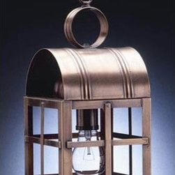 Northeast Lantern - Adams Antique Brass One-Light Outdoor Pendant with Clear Glass - -Clear Glass  -Northeast Lantern offers a distinctive collection of early American and Colonial reproduction lighting that is hand crafted in New Hampshire for a lifetime of beauty.  -The fixtures are made of solid brass and copper. They  are cut fitted soldered finished and wired by hand in New Hampshire.    -Canopy Dimensions: 5 Diam. Northeast Lantern - 6132-AB-MED-CLR