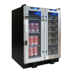 Vinotemp - Vinotemp - 36-Bottle Touch Screen Mirrored Cooler - The VT-36TS-SM is perfect for those who love to entertain. This sleek mirrored cooler can house up to 19 standard wine bottles on the right side and 58 12 oz. cans on the left side. Front exhaust allows this cooler to fit seamlessly into existing cabinetry, lending a modern touch to any room. Touch screen control panels located at the top of each door allow you to monitor the temperature as well as adjust the temperature as needed.