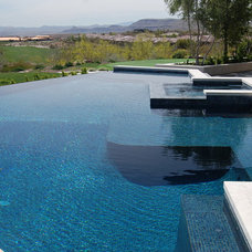 Contemporary Pool by Laguna Pool & Spa
