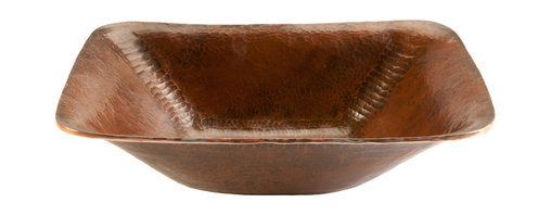 Premier Copper Products - Rectangle Hand Forged Old World Vessel Sink - Rectangle Hand Forged Old World Copper Vessel Sink