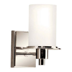 Kichler - Kichler 5436PN Modern One Light Up Lighting Wall Sconce - Cylinder Collection - Features: