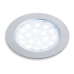 """Hafele - Hafele 830.64.261 Sunny LED 2.5"""" Round Puck Recessed Mount Light Fixture - Sunny LED 2.5"""" Round Puck Recessed Mount Light FixtureThis LED light fixture is perfect for mounting under cabinets or inside them.  Bring light to any area with this warm LED light.  This series features high efficiency output, 3200K white light, with a 79"""" cord.Hafele is committed to finding better ways and it shows in their innovative and beautiful line of kitchen products.  These products will lead to better organization in your kitchen and the peace of mind that comes with Hafele brand products.  Besides quality and beauty, Hafele is committed to reducing their environmental impact, so you can buy these products with confidence in every aspect.Features:"""