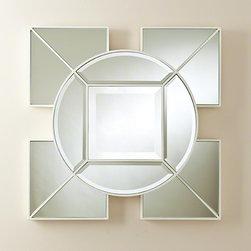 Global Views Arabesque Square Mirror White - Arabesque Square Mirror-White