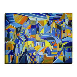 """DiaNoche Designs - Coastline Cottages Illuminated Wall Art - Illuminated Wall Art by Dianoche Designs, brings continuous art 24 hours a day. Art during the day... flip a switch, and at night, it is a light! Art by Maeve Wright - Coastline Cottages. Dianoche Designs illuminates artwork from behind using LED's designed to last 50,000 hours. The """"Art Today, Light Tonight"""" concept gives each customer an opportunity to enjoy their artwork 24 hours a day! Dianoche Designs uses images from artists all over world and literally """"Brings to Light"""" their astonishing works. Your power cord can be hidden by a simple cable organizer or cable raceway, that commonly hides speaker wire on a wall. This can be purchased at any home improvement store and you can also paint over it."""